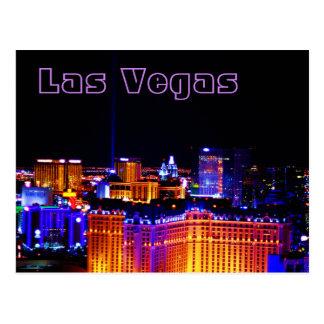 ラスベガス-空のライト ポストカード