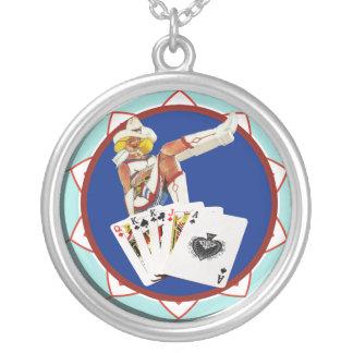 ラスベガスGalのポーカー用のチップ シルバープレートネックレス