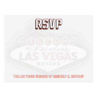 ラスベガスRSVPの結婚披露宴 ポストカード