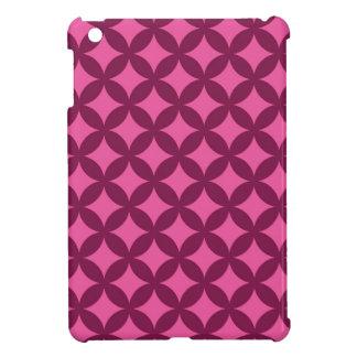 ラズベリーおよびGeocircleのピンクのデザイン iPad Miniケース
