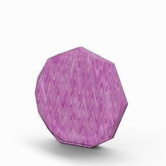 ラズベリーのジグザグ形-ピンクの抽象的なパターン 表彰盾
