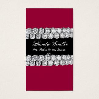 ラズベリーのダイヤモンドのページェントの名刺 名刺
