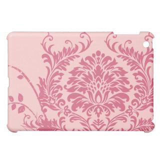 ラズベリーのダマスク織の渦巻のiPadカバー iPad Miniケース