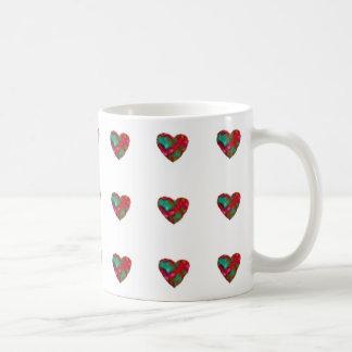 ラズベリーのハートのマグ コーヒーマグカップ