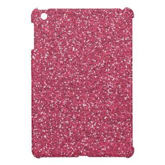 ラズベリーのピンクのグリッターの効果 iPad MINIケース