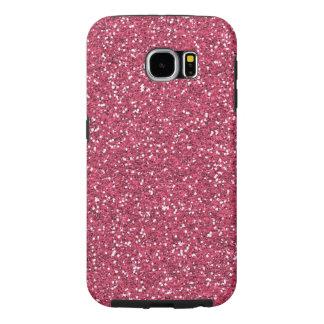ラズベリーのピンクのグリッターの効果 SAMSUNG GALAXY S6 ケース