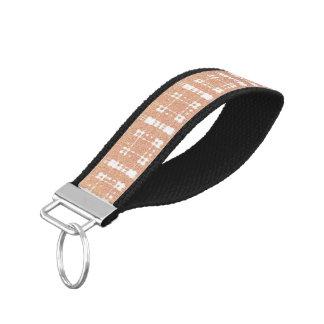 ラズベリーのピンクの赤面のモダンな格子縞はOmbraを得ました リストバンドキーホルダー