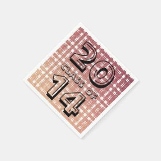 """ラズベリーのピンクの赤面のモダンの格子縞の""""クラスの"""" スタンダードカクテルナプキン"""