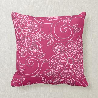 ラズベリーのワインの花柄の枕 クッション