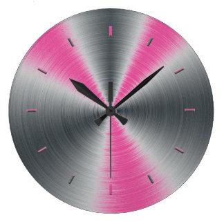 ラズベリーの一致するピンクの上音色 ラージ壁時計