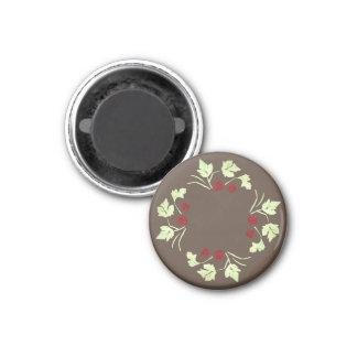 ラズベリーの休日のリースの円形の磁石 マグネット