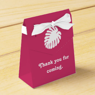 ラズベリーの好意箱の熱帯ハイビスカス フェイバーボックス