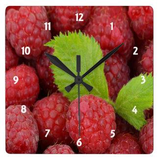 ラズベリーの時計 スクエア壁時計