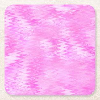 ラズベリーの波紋のピンクの抽象芸術パターン スクエアペーパーコースター