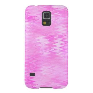 ラズベリーの波紋のピンクの抽象芸術パターン GALAXY S5 ケース
