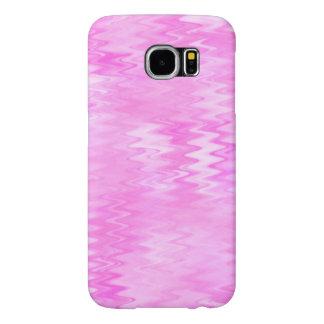 ラズベリーの波紋のピンクの抽象芸術パターン SAMSUNG GALAXY S6 ケース