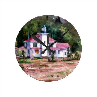 ラズベリーの灯台柱時計 ラウンド壁時計