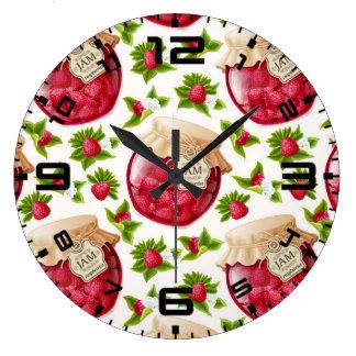 ラズベリージャム ラージ壁時計