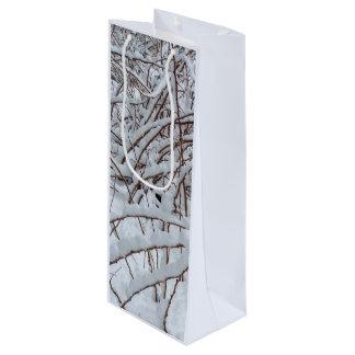ラズベリーパッチの雪 --- ワインギフトバッグ