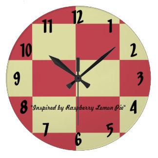 ラズベリーレモンパイ ラージ壁時計