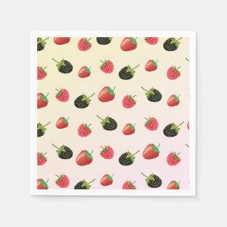 ラズベリー、いちご、ブラックベリー: 夏のフルーツ スタンダードカクテルナプキン