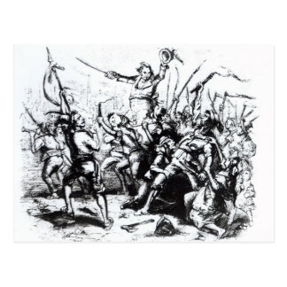 ラダイトの暴徒1811-12年 ポストカード