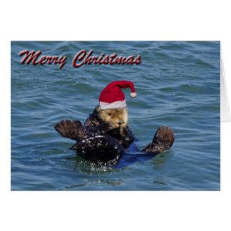 ラッコのクリスマスカード カード