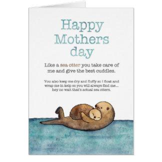 ラッコの母の日 カード