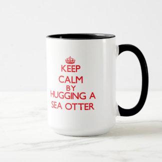 ラッコを抱き締めることによって平静を保って下さい マグカップ