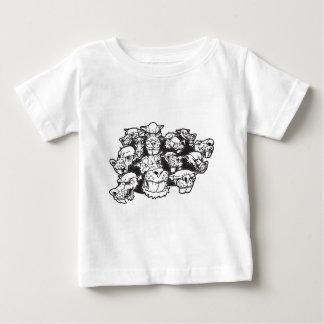ラットのパック ベビーTシャツ