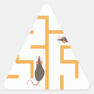 ラットの当惑 三角形シール