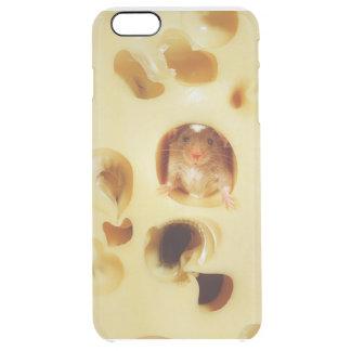 ラットはチーズを食べています クリア iPhone 6 PLUSケース