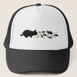 ラットを持つ黒猫 キャップ