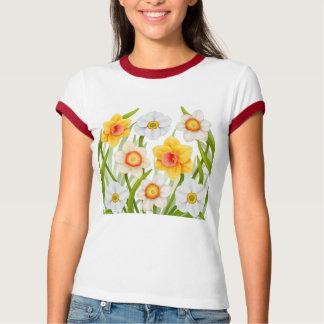 ラッパスイセンの女性信号器のワイシャツ Tシャツ