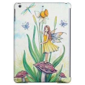 ラッパスイセンの花の妖精のファンタジーの芸術