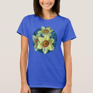 ラッパスイセン-春のTシャツの黄色の喜び Tシャツ