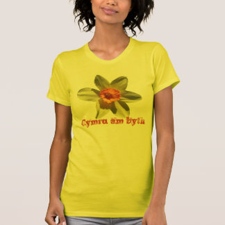 ラッパスイセン、Cymru AMのbyth -ウェールズの国民の花 Tシャツ