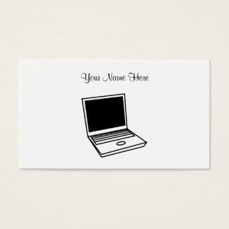 ラップトップのPC、ここのあなたの名前 名刺