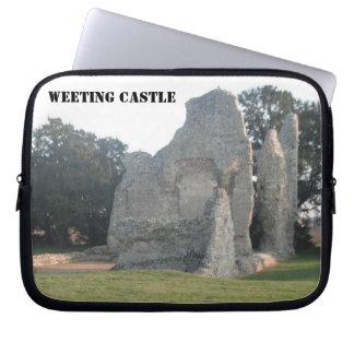 ラップトップスリーブのWeetingの城Weetingノーフォークイギリス ノート型パソコンスリーブケース