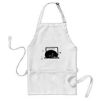 ラップトップ猫のベッド(タキシード- Black&White) スタンダードエプロン