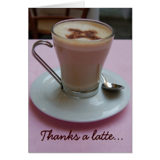 ラテの感謝の挨拶状を感謝していしています カード