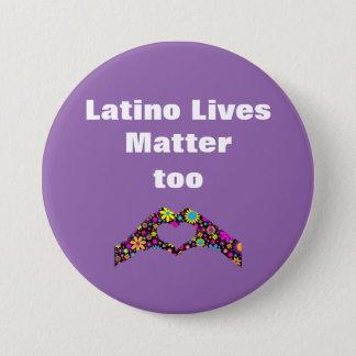 ラテンアメリカ人はボタン問題のハート手余りに住んでいます 7.6CM 丸型バッジ