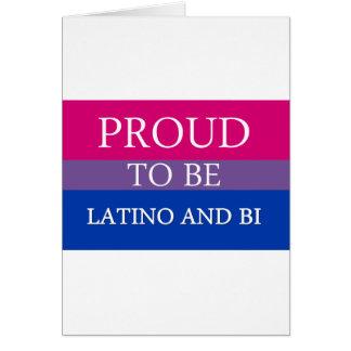 ラテンアメリカ系およびBiがあること誇りを持った カード