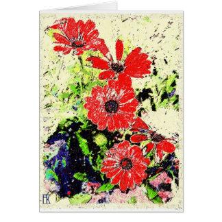 ラテンアメリカ系女性カードの花 カード