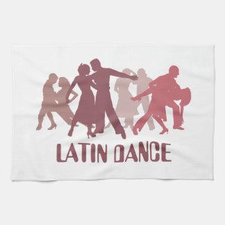 ラテン系のダンサーの絵 キッチンタオル