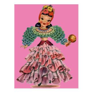 ラテン系の人形 ポストカード