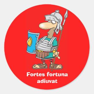 ラテン: 長所のフォルトゥナのadiuvat ラウンドシール