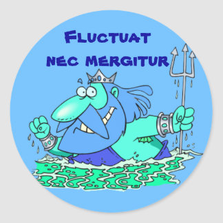 ラテン: Fluctuat necのmergitur ラウンドシール