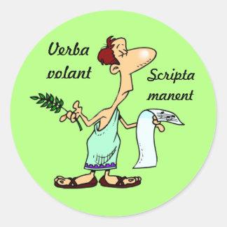 ラテン: manent Verbaのvolant scripta ラウンドシール
