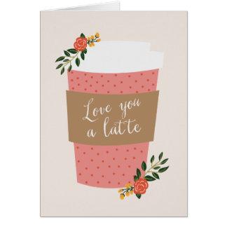 ラテ のバレンタイン愛して下さい ノートカード